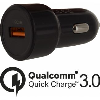 Mobilize Smart Car Charger Single USB 20W Qualcomm QC3.0 Black